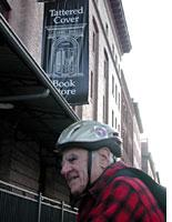 Manny in front of the Tattered Cover