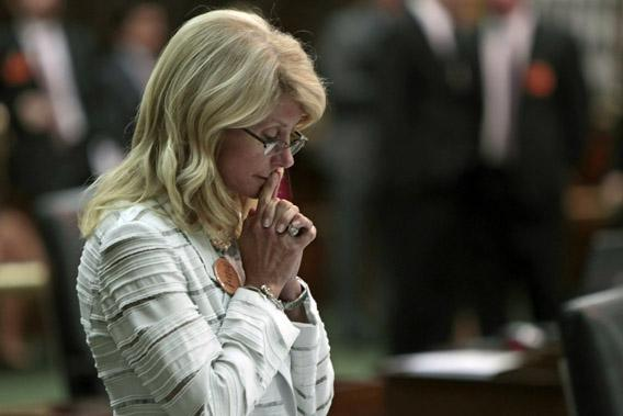 State Sen. Wendy Davis contemplates her 13-hour filibuster after the Democrats defeated the anti-abortion bill SB5, which was up for a vote on the last day of the legislative special session June 25, 2013 in Austin, Texas.