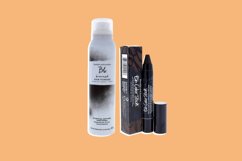 Bumble and Bumble color stick and hair powder.