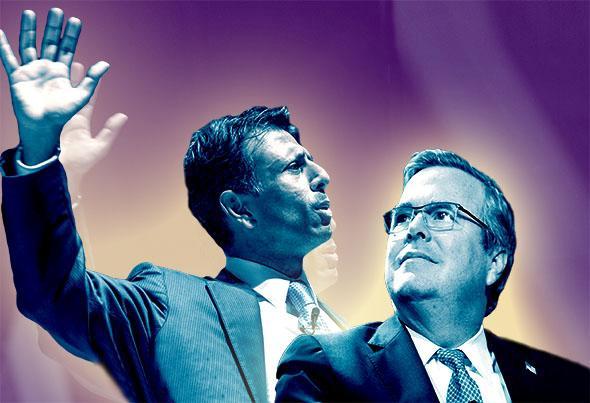 Louisiana governor Bobby Jindal and Former Florida Gov. Jeb Bush
