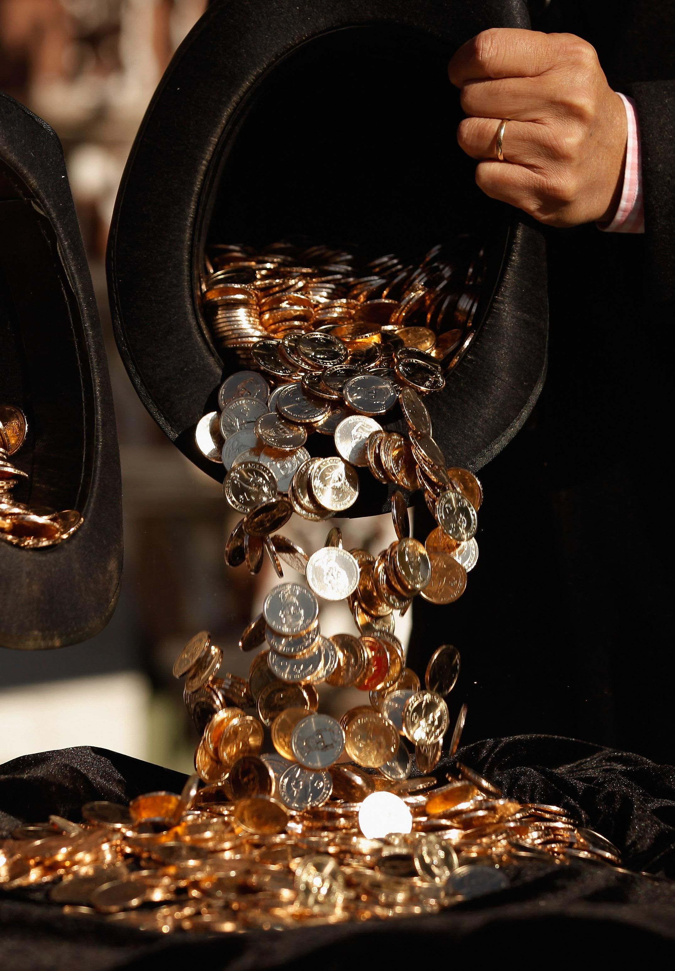 Stack of coins.