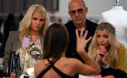 "Photograph of Jessica Simpson, John Varvatos, Nicole Richie in ""Fashion Star."""
