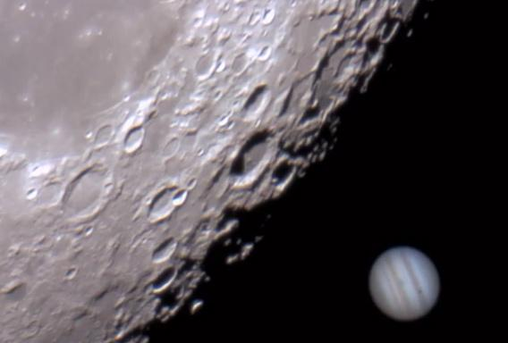 Christmas Day Occultation: Video of the Moon passing in