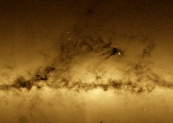 Gaia map of Milky Way stars looks like a photo, but it's not.