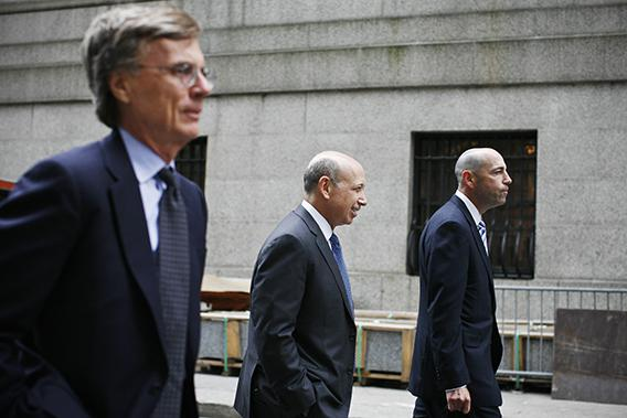 Goldman Sachs Chairman and Chief Executive Lloyd Blankfein leaves the Manhattan federal court after attending the Rajat Gupta insider-trading trial in New York June 7, 2012.