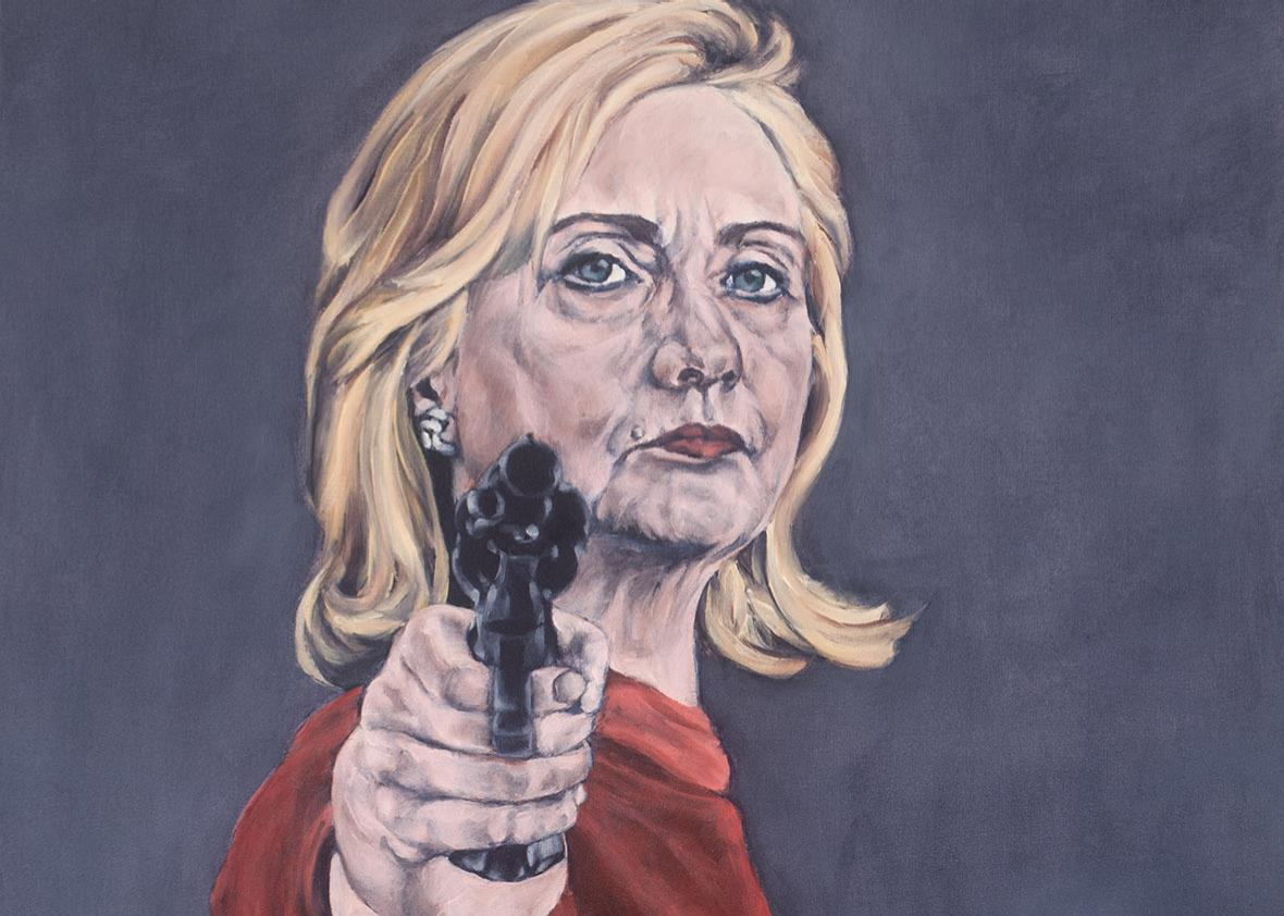 Sarah Sole's many Hillary Clinton paintings