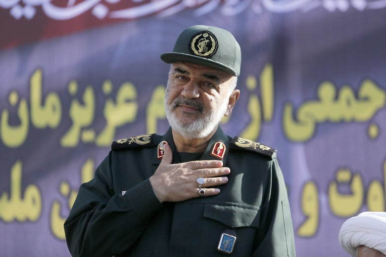 Hossein Salami of the Islamic Revolutionary Guard Corps on September 24, 2018.