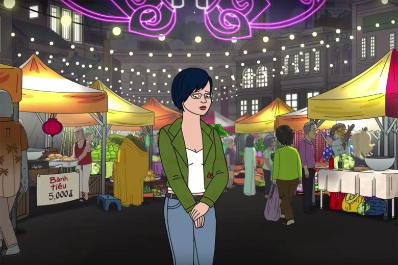 Diane Nguyen in a scene from BoJack Horseman