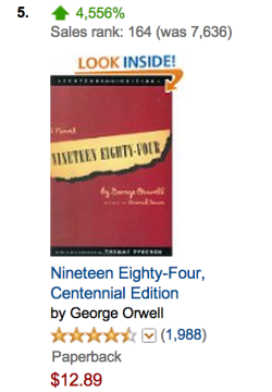 Amazon 1984 sales rank