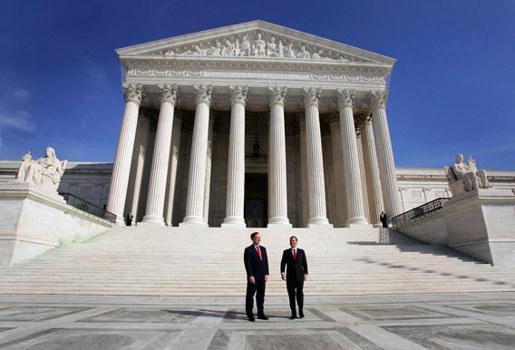 Chief Justice of the Supreme Court John Roberts and Justice Samuel Alito.