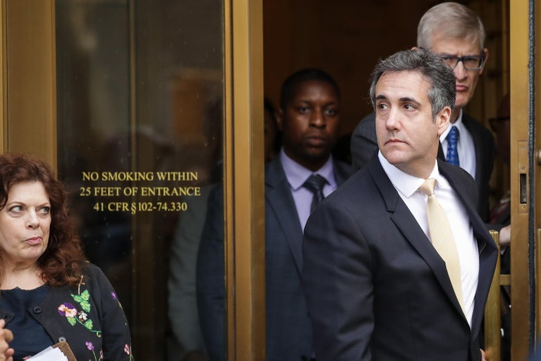 NEW YORK, NY - AUGUST 21: Michael Cohen, President Donald Trump's former personal attorney and fixer, exits federal court, August 21, 2018 in New York City. Cohen reached an agreement with prosecutors, pleading guilty to charges involving bank fraud, tax fraud and campaign finance violations. (Photo by Drew Angerer/Getty Images)