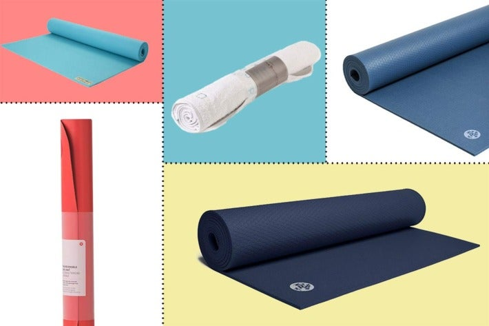 Collage of various yoga mats.