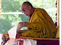 The Dalai Lama comes to Leh every two or three years