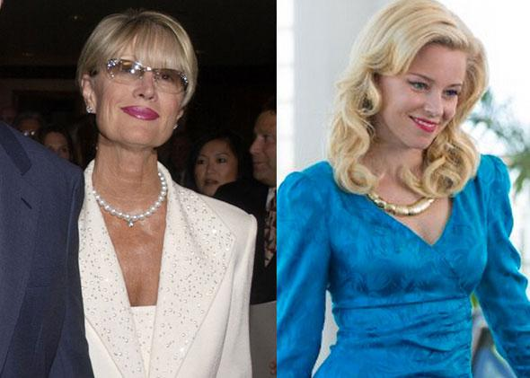 Melinda Ledbetter in 2002 and still of Elizabeth Banks in Love & Mercy