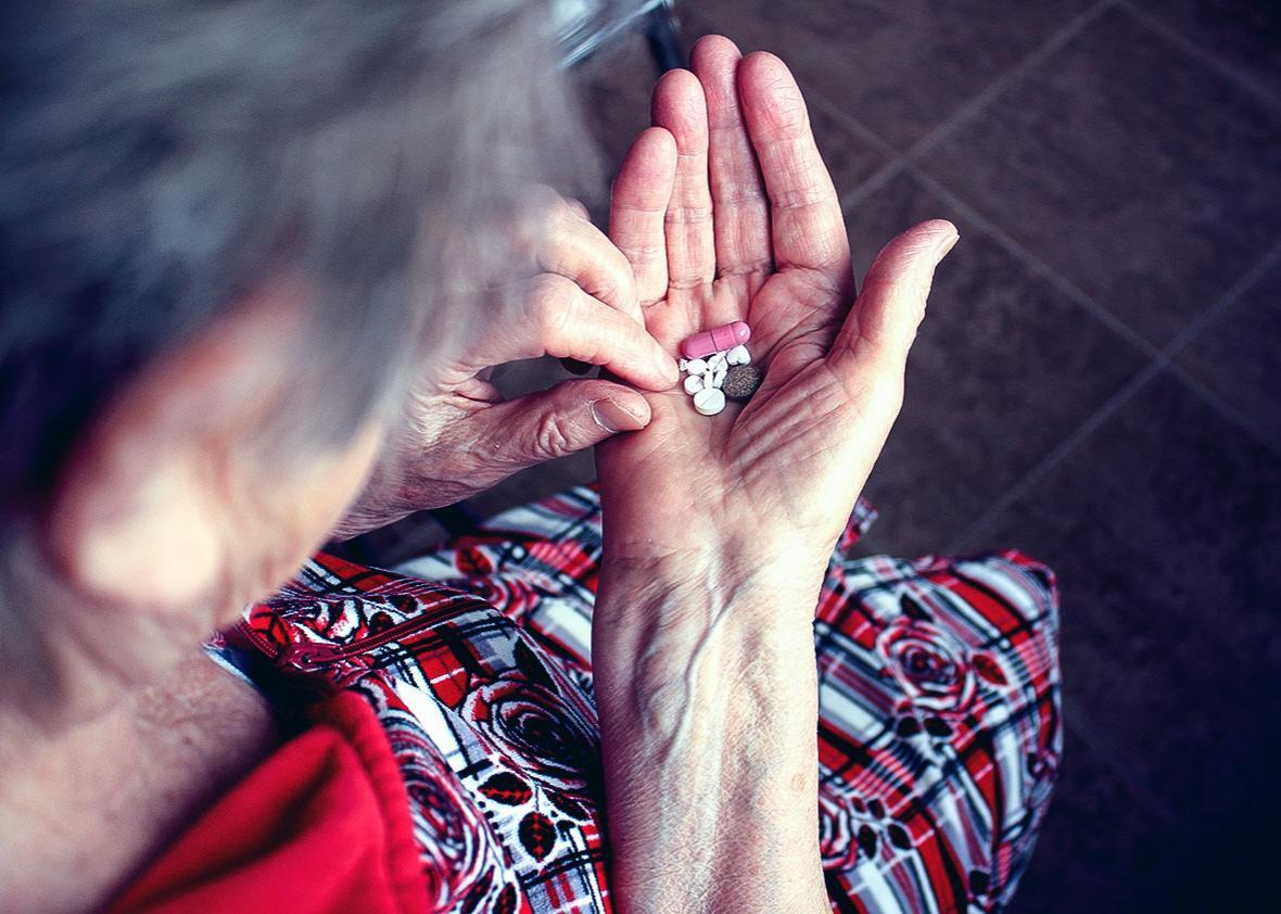 elderly woman social security.