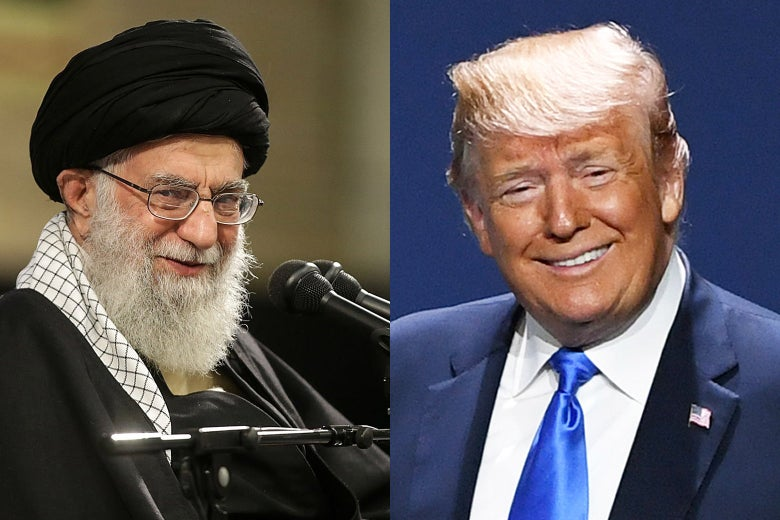 Ayatollah Ali Khamenei and President Donald Trump.