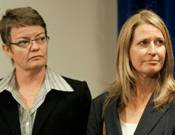 Kristin Perry (left) and Sandra Stier. Click image to expand.
