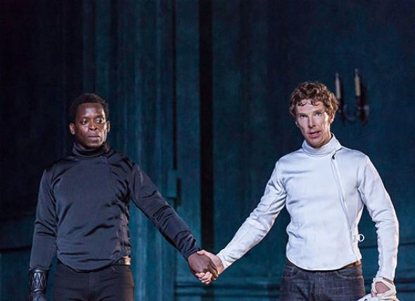 Benedict Cumberbatch as Hamlet at the Barbican Theatre