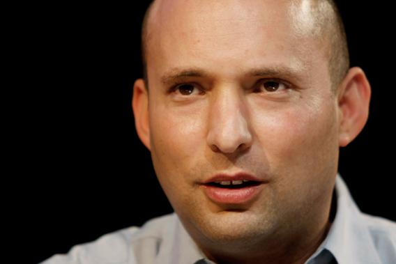 Naftali Bennett, head of the Israeli hardline national religious party, Jewish Home, speaks during the first high-tech conference for Israel's Haredi Sector, on Jan. 15, 2013, in Jerusalem.