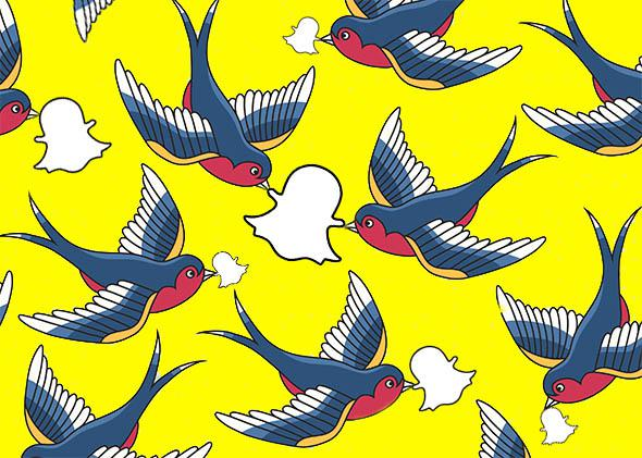 carrier Snapchat pigeons.