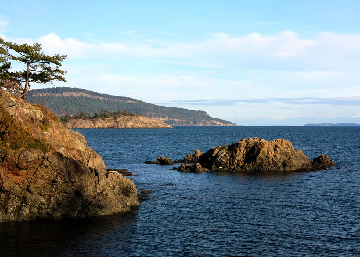 Southeastern end of South Pender Island, southern British Columb