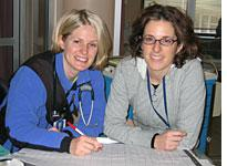 Alexi (left) and Ingrid in the CCU