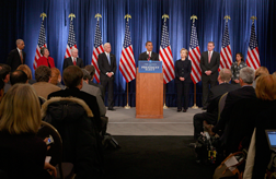 Barack Obama introduces members of his National Security Team. Click image to expand.