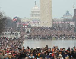 Crowds on the Mall in Washington, D.C. Click image to expand.