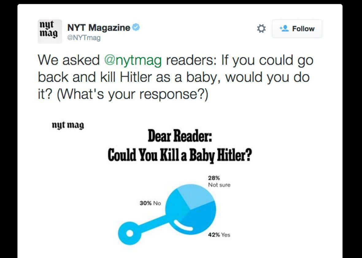 "In Praise of the New York Times Magazine's ""Baby Hitler"" Poll"
