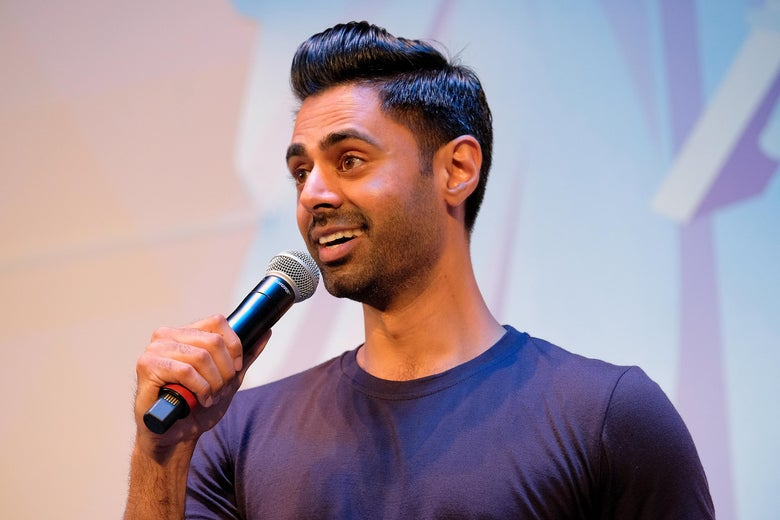 Hasan Minhaj performs onstage during OZY FEST 2018 at  Rumsey Playfield, Central Park on July 21, 2018 in New York City.  (Photo by Matthew Eisman/Getty Images for Ozy Media)