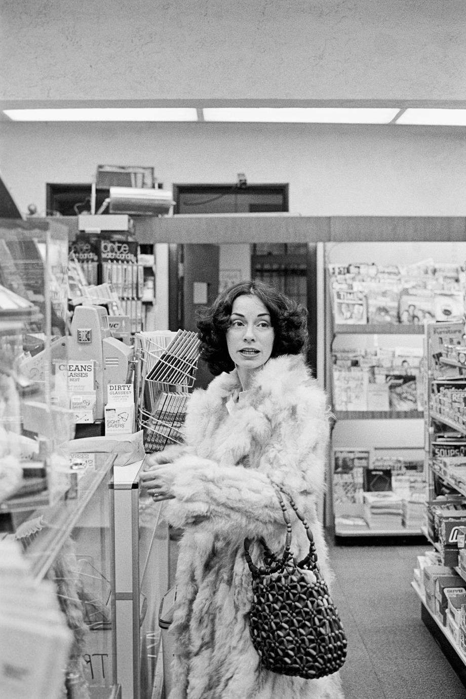 Marianne in the Drugstore, Kansas City (The Flight Attendant Years), 1978, printed 2013archival pigment print