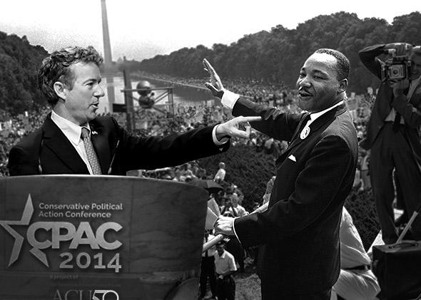 Rand Paul and Martin Luther King, Jr.