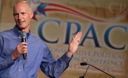 Florida Gov. Rick Scott speaks at the Conservative Political Action Conference.
