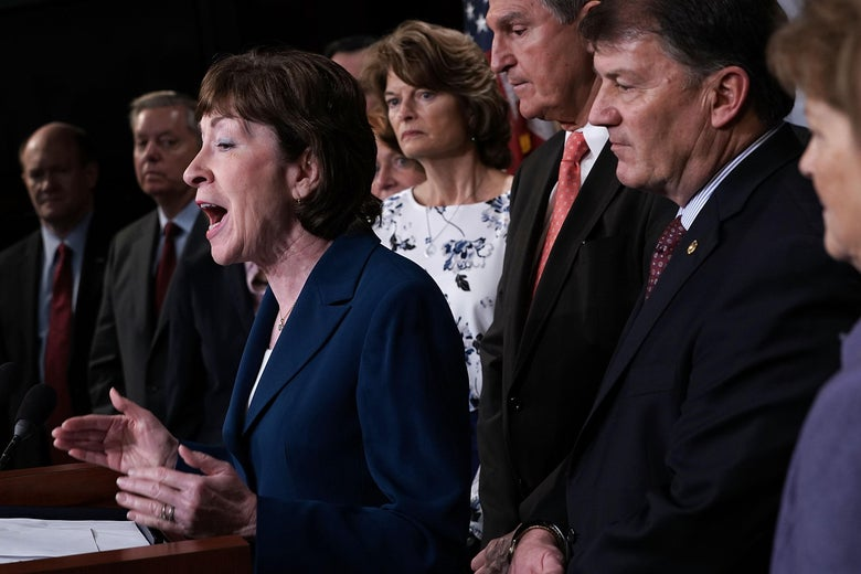 The moderates behind the Senate's immigration deal.