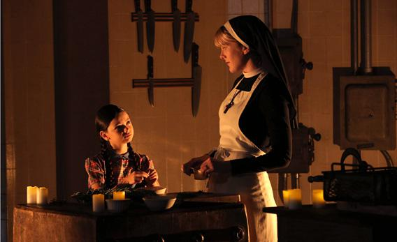 Nikki Hahn as Jenny Reynolds, Lily Rabe as Sister Mary Eunice.