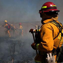 Firefighters in California.