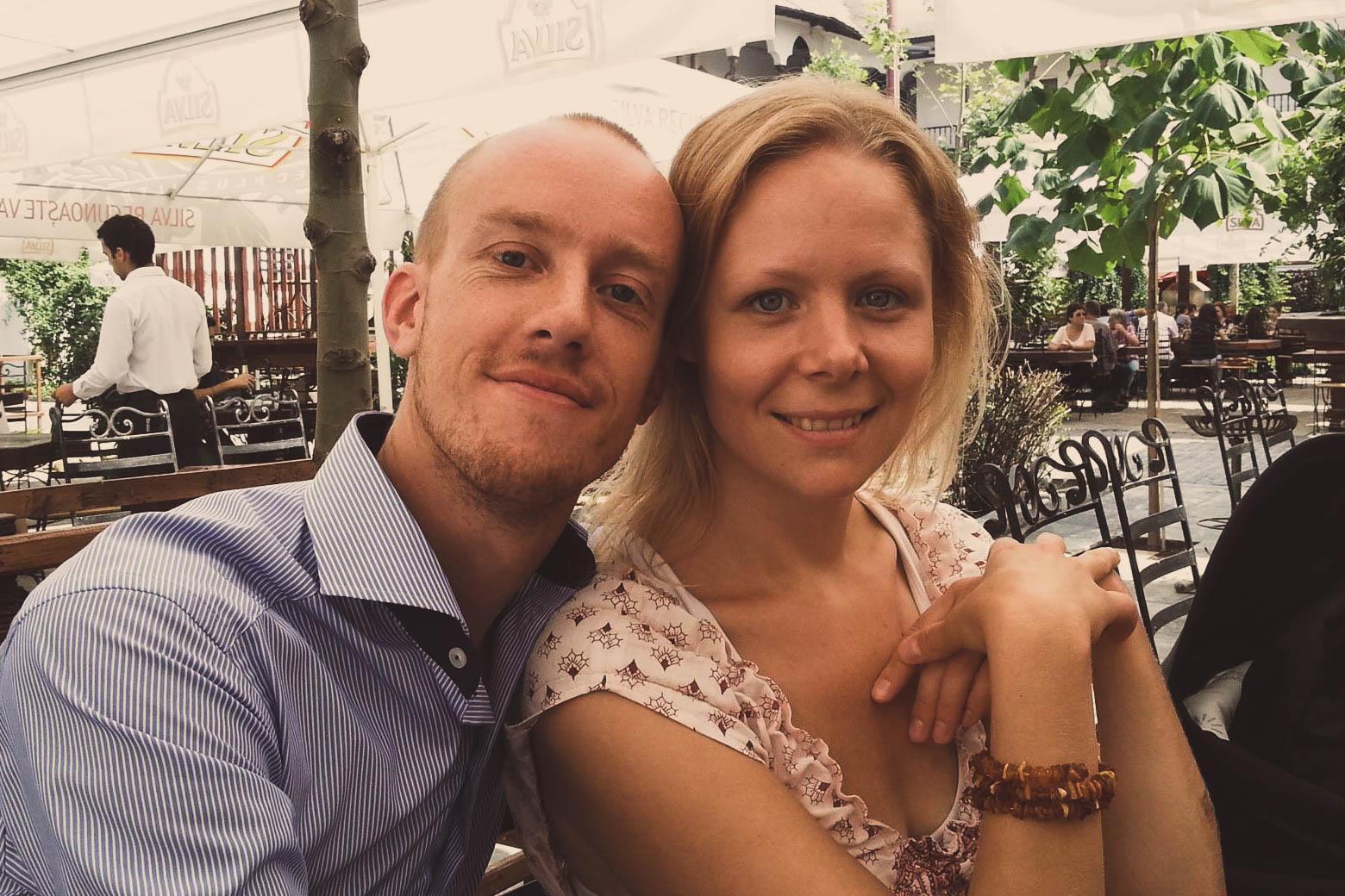Kesia Lyng and her husband David.