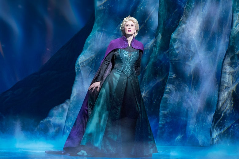 Caissie Levy as Elsa in Frozen on Broadway.