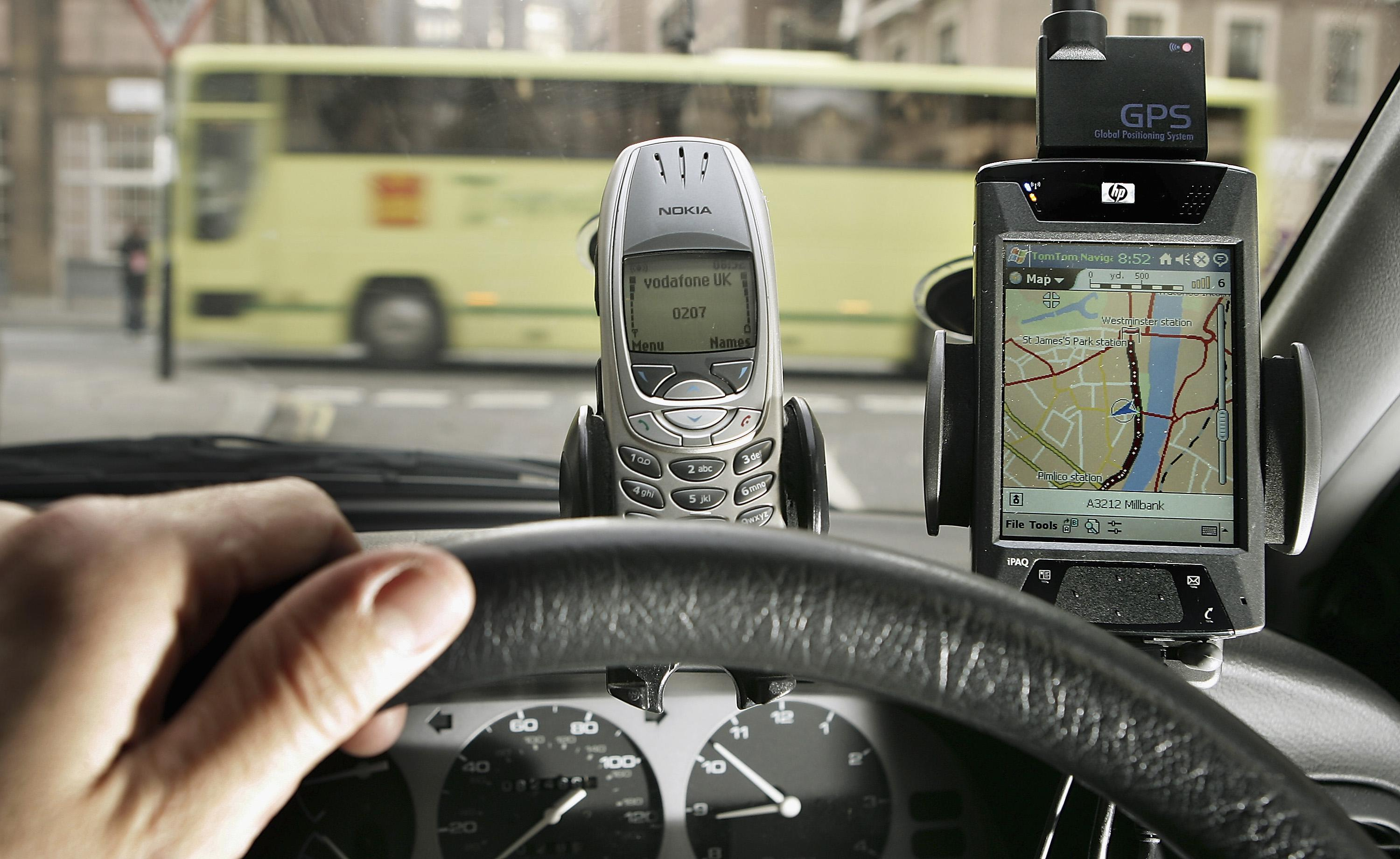 In car navigation and telephone dashboard mounted devices.