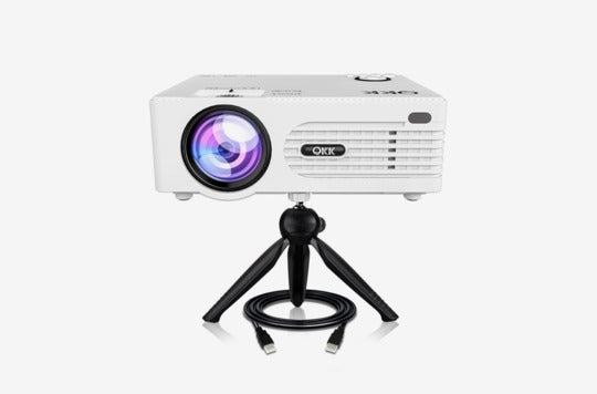 QKK 2200 Lumen Mini Projector.