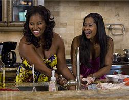 DeShawn Snow and Lisa Wu Hartwell in The Real Housewives of Atlanta. Click image to expand.