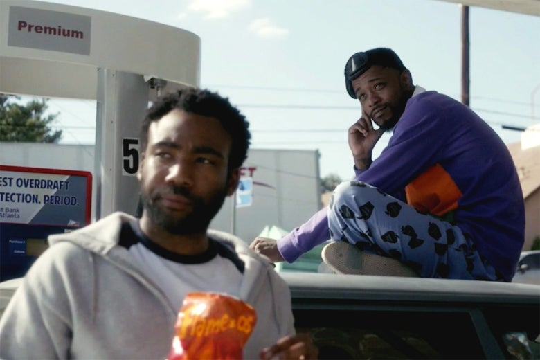 Donald Glover and Lakeith Stanfield in Atlanta.