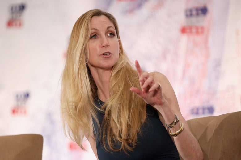 Ann Coulter speaks onstage during at Politicon 2018 in Los Angeles, California.
