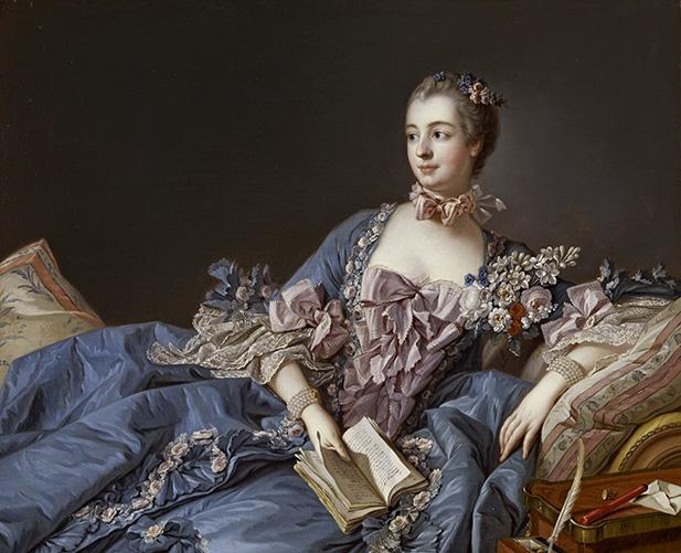 Portrait of the Marquise de Pompadour, circa 1750-1758.