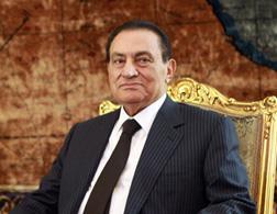 Egyptian President Hosni Mubarak. Click image to expand.
