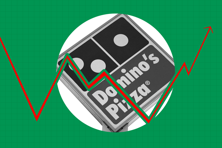 A Domino's Pizza sign.