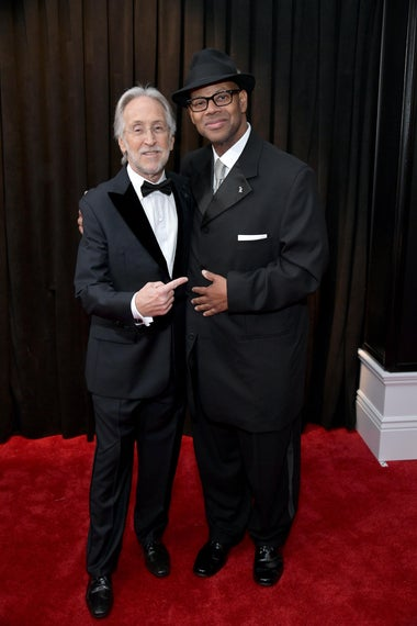 President and CEO of The Recording Academy Neil Portnow and Jimmy Jam attend the 61st Annual GRAMMY Awards at Staples Center on February 10, 2019 in Los Angeles, California.  (Photo by Neilson Barnard/Getty Images for The Recording Academy)
