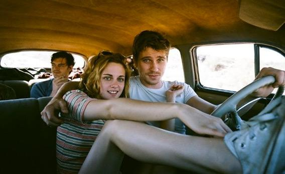 Still of Sam Riley, Kristen Stewart and Garrett Hedlund in 'On the Road.'
