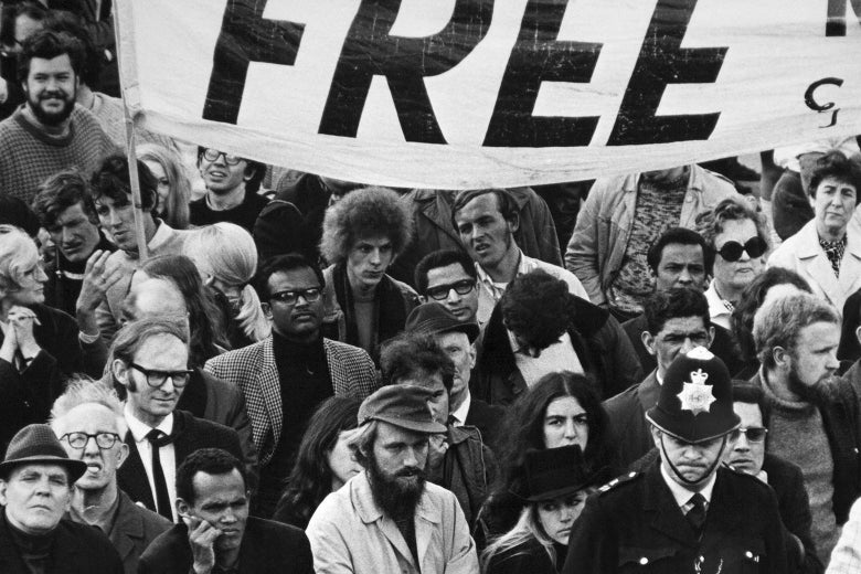 An anti-apartheid protest