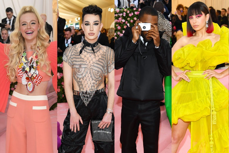 Elle Fanning, James Charles, Frank Ocean, and Charli XCX.